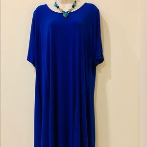 Susan Graver royal blue 1x